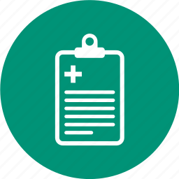 clinical, medical, record, report icon