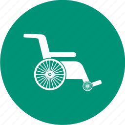 disability, disabled, handicap, medical, wheelchair icon