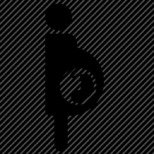 mom, pregnant icon