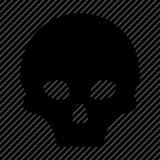 bone, darnger, pirate, poison, skeleton, skull, warning icon