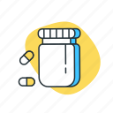 care, doctor, health, hospital, medical, medicine, pill icon