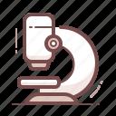 analysis, laboratory, microscope icon