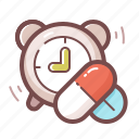 alarm, pills, reminder icon