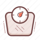fitness, scale, weight icon