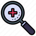 search, find, magnifying, medical, healthcare