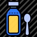 cough syrup, medicine, liquid medicines, elixir, spoon