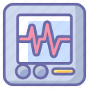 cardiogram, healthcare, hospital, medical, treatment icon