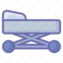 bed, clinic, healthcare, hospital, medical, medical bed icon