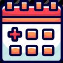 agenda, bukeicon, distance, health, inspection, schedule, time