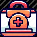 bags, bukeicon, doctor, health, hospital icon