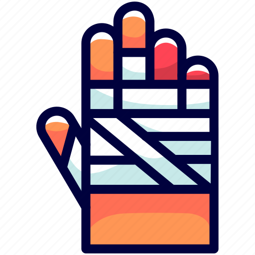 bandages, bukeicon, hands, health, mummies icon