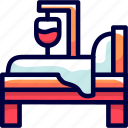 bed, blanket, bukeicon, pillow icon