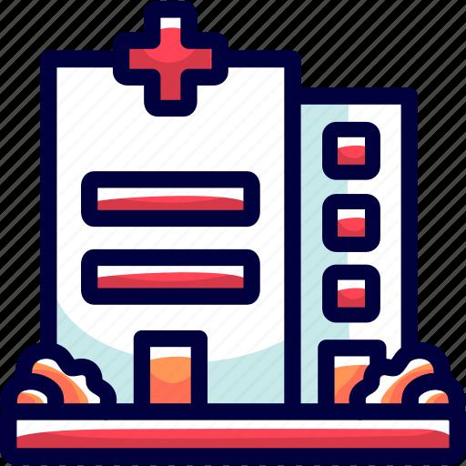buildings, bukeicon, grass, health, hospitals icon
