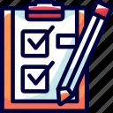 analysis, bukeicon, check, checking, health, paper, pencil