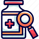 bukeicon, drug, health, herbal, search icon