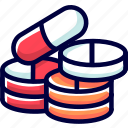 bukeicon, capsules, drugs, health, medicine, pills, powder icon