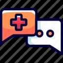 bukeicon, consultation, discussion, health, talks icon