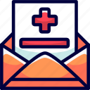 bukeicon, email, examination, health, results icon