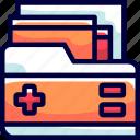 buke, files, folders, health, notes icon