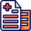 bukeicon, health, medical, notes, records icon