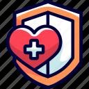 bukeicon, health, insurance, protection icon