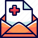 bukeicon, e, files, health, hospitals, letter, mail icon