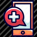 bikeicon, emergency, health, hospital, mobile, telephone icon