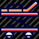 bukeicon, emergency, health, hospital, trolley icon