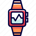 gauges, heart, rate, books, heartbeats, watches icon