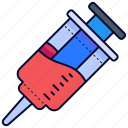 inject, injection, injections, syringe, vaccine icon