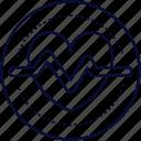 health, healthy, heart, heartbeat, wellness icon