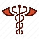 aesculapius, caduceus, doctor, healthcare, medical, nurse, staff icon