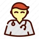 doctor, healthcare, male, medical, nurse icon