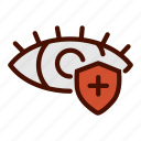 eye, health, healthcare, medical, protection icon