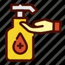 antiseptic, handwash, handwashing, healthcare, medical icon