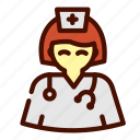 doctor, female, healthcare, medical, nurse icon