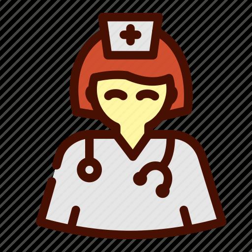 doctor, female, healthcare, medical, nurse icon