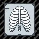 fluorography, medicine, rib cage, ribs, x-ray icon