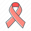 aids, anti-aids, healthcare, ribbon icon
