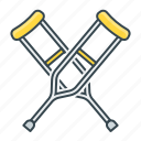 crutches, medical, medicine icon