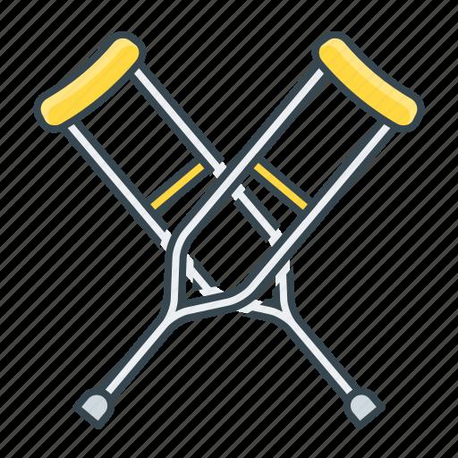 crutches, medical, medicine icon