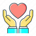 care, hands, health, healthcare, healthy, heart icon
