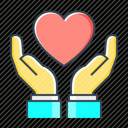 care, hands, health, healthcare, healthy, heart icon
