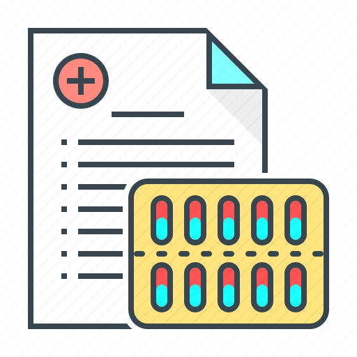 medical, medical prescription, medicine, pills, prescription, recipe icon