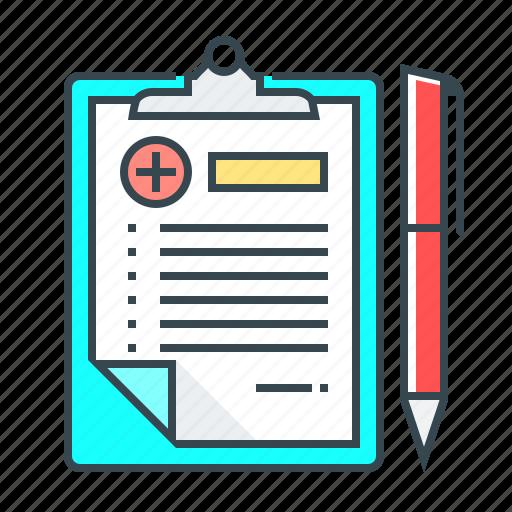 document, healthcare, medical, medical records, medicine, records icon