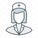 healthcare, medicine, nurse, woman icon