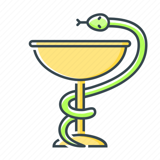 cup, healthcare, medicine, pharmacy, snake icon