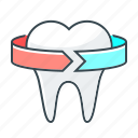 medicine, stomatology, tooth icon