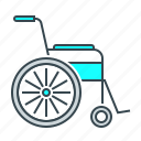 disabled, medicine, wheelchair icon