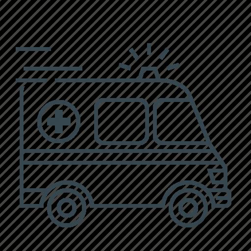 ambulance, auto, automobile, car, medicine icon